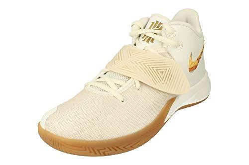Nike Kyrie Flytrap III Hombre Basketball Trainers BQ3060 Sneakers Zapatos (UK 7 US 8 EU 41, Summit White Metallic Gold 105)