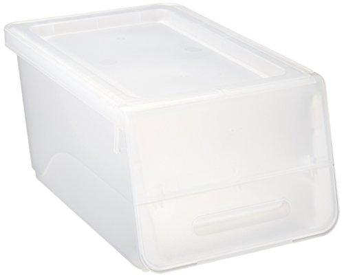 サンカ 収納ボックス フロック スリム23 浅型 クリア 色 (幅28.5×奥行46×高さ24cm) squ+ fr-S23CL 日本製