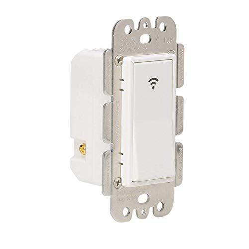 SODIAL Interruttore luce intelligente WiFi Interruttore temporizzato a parete wireless per luci ventilatore Compatibile con Alexa Google Home, nessun hub richiesto