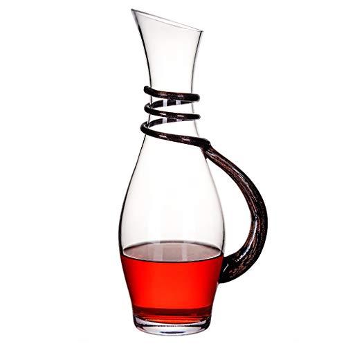 Carafe à Vin Creative Classic 1 L Avec Poignée - Verre en Cristal Sans Plomb Soufflé à La Main, Carafe Pour Vin Rouge, Cadeau Pour Le Vin, Accessoires Pour Le Vin, Aérateur de Vin, Bouteille de Whisky