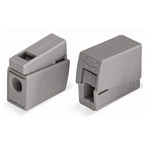 WAGO® Leuchtenklemme, grau, 224-101 (100 Stück)