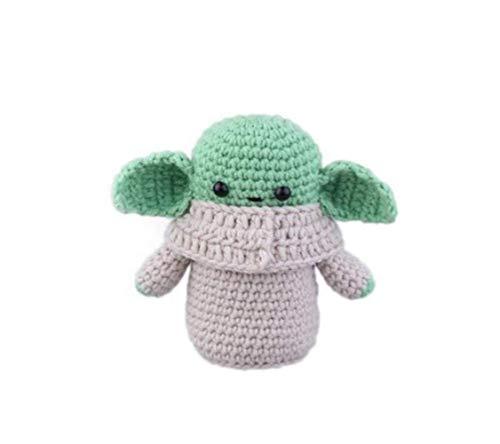 Mini Yod_a Figura de bebé de punto de muñeca adorno extraño monstruo verde ganchillo juguete de ciencia ficción