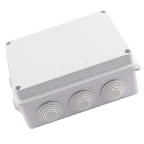 DGZZI 1PC ABS Plastic IP65 Waterproof Junction Box DIY Outdoor Electrical Connection box Cable Branch box Power Distribution Box 150x110x70mm (5.9 x4.3 x2.8 )