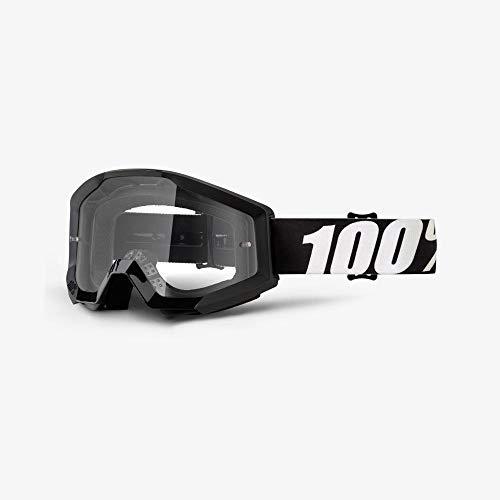 100% STRATA Brille Outlaw - klar Linse, Schwarz , Größe One Size