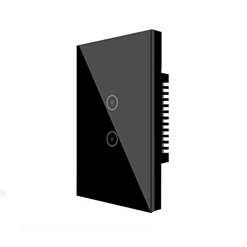 Applique da parete Jinvoo smart Wi-Fi Touch pannello US 2, smart time switch, compatibile con iOS e Android, con Alexa Echo e Google Smart Assistant, powered by Tuya, smart life