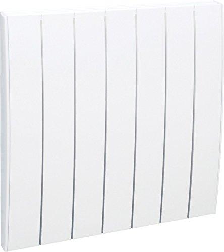 AIRELEC AIRA692793 - Radiateur à inertie sèche en Fonte - Gamme Fever - 1000 Watts - Blanc - Affichage digital