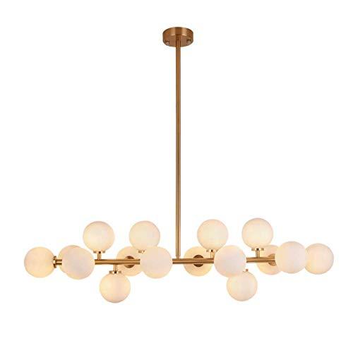 Lámpara de interior industrial retro de 16 luces Bola de cristal creativa Lámpara de oficina de la personalidad Sala de estar Mesa de comedor Iluminación Lámpara de techo Lámpara de cabeza de lámpar