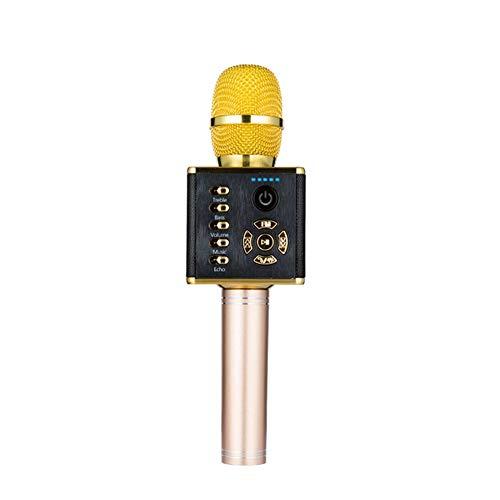 SHENGY draadloze draagbare karaoke-microfoon, met led-licht-licht-licht-licht-licht-lamp Bluetooth voor smartphone Perfect Home Singing Ondersteuning voor Android iOS