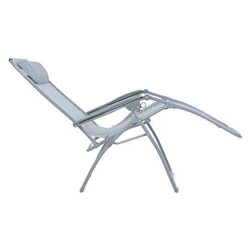 Zero Gravity Metal Sun Lounger - Silver Grey: Premium, Heavy Duty 2020 Model (Reclining Outdoor Garden Deck, Beach Chair)