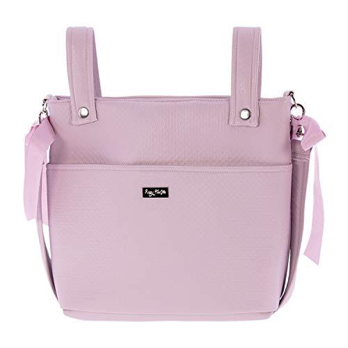 Bolso para silla de Paseo o Talega Rosy Fuentes en color rosa empolvado
