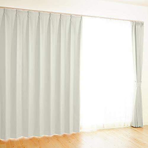 【全41色×220サイズ】 オーダーカーテン 1級遮光 防炎 均一価格 ポイフル オフホワイト 幅100×丈150cm 1枚