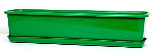 Jardinière de balcon Venus avec soucoupe Vert 50 cm