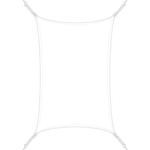SUN & VELA Voile d'ombrage Rectangle Extensible Easy Sail, Blanc, 300x200x200 cm