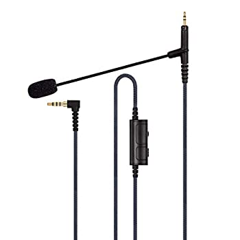 ABLET Boom Microphone Cable - Boompro Gaming Mic Compatible with Sennheiser HD598 HD598 Cs HD598 SE HD518 SR HD599 Headphone - Volume Control for PlayStation PS4 or Xbox One Controller PC 150CM