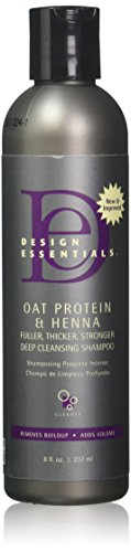 Design Essentials Oat Protein & Henna Deep Cleansing Shampoo For Fuller, Thicker, Stronger,...