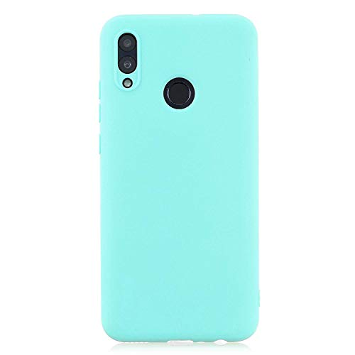 cuzz Funda para Huawei P Smart 2019+{Protector de Pantalla de Vidrio Templado} Carcasa Silicona Suave Gel Rasguño y Resistente Teléfono Móvil Cover-Azul Claro
