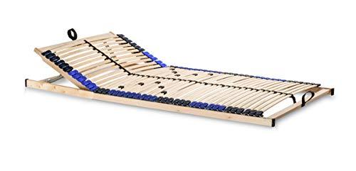 snoozo Lattenrost Superflex zur Selbstmontage/Lattenrahmen - 42 Federleisten und 5-fache Härteverstellung - geeignet für alle Matratzen 140 x 200 cm, Kopfteil verstellbar
