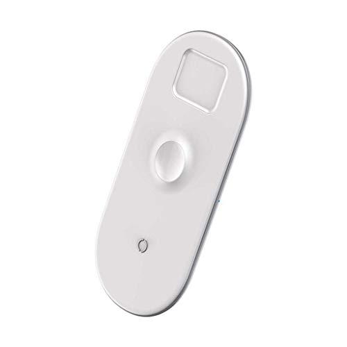 Carregador Sem Fio 3n1 Baseus para Apple Watch, Airpods e Smartphones Branco