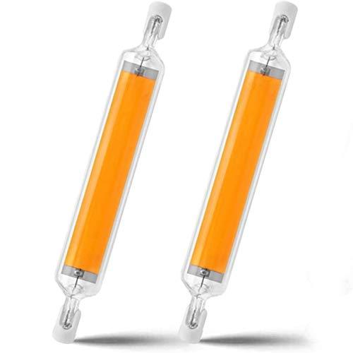 MJLXY 20W R7S LED 118Mm Lampe COB Glühbirne R7S LED Birne Dimmbar 360° Abstrahlwinkel Halogenlampe Für Landschaftsleuchten Sicherheitsleuchten,2 STK,Cool White