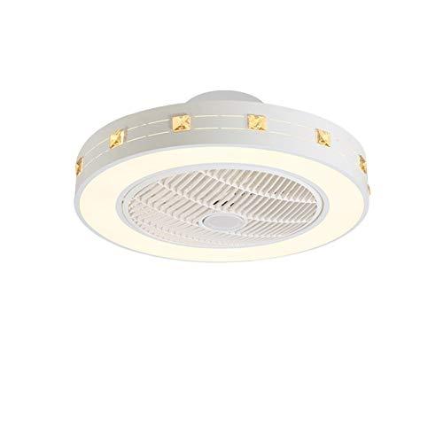 ASPZQ LED Lámpara Ventilador de Techo 72W con Mando A Distancia Velocidad del Viento Ajustable para Sala Estar, Comedor, Dormitorio, Pasillo, Iluminación de Ventilador Oficina