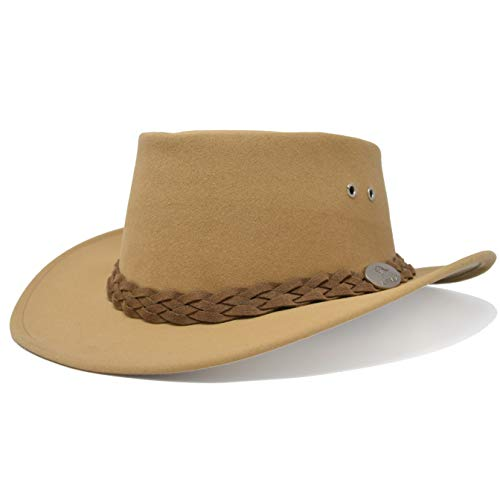 Aussie Chiller Original Outback Bushie Cooling Hat with Soak Me Design for Hot Weather Comfort | Made in Australia (Blond, Medium)