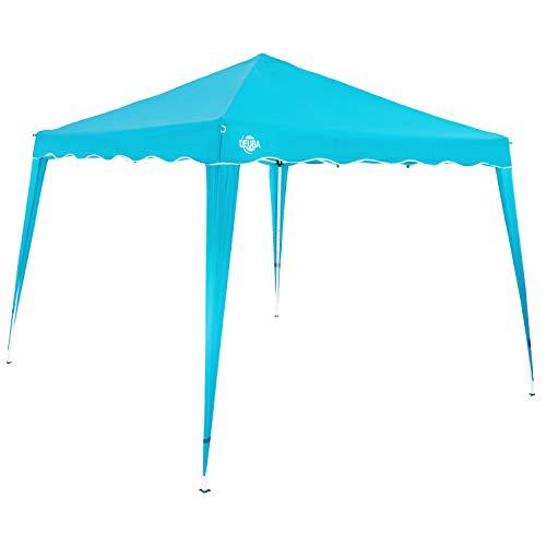 Deuba Pavillon 3x3m wasserdicht inkl. Tasche Faltpavillon Capri UV-Schutz 50+ Partyzelt Gartenpavillon Pop up Hellblau