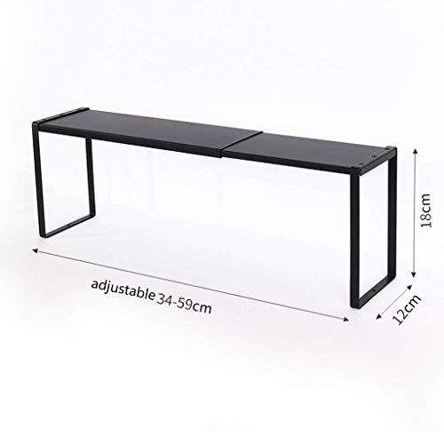 ZXL@ED Organizador de estantes de cocina multifuncional de pie, gabinetes de condimento Racks escalonados/Negro/Small
