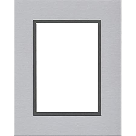 Pack of 5 11x14 Double Acid Free White Core Picture Mats Cut for 8x10 Pictures in Pine Green and Bright Green