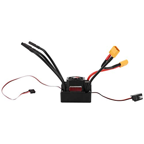 Dilwe Motor RC ESC, Impermeable 3670 2850KV Motor sin escobillas 120A ESC Juego de disipador de Calor Compatible con 1/8 1/10 RC Car