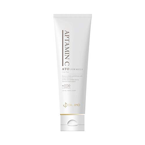 Dr. JINO Aptamin C ATO Formula Cream - Protects Vitamin C from Oxidation - Face & Body Moisturizing, Tightening Lotion - Dry Skin Hydrating Moisturizer, Helps Fade Wrinkles, Spots - 4.05Fl. Oz