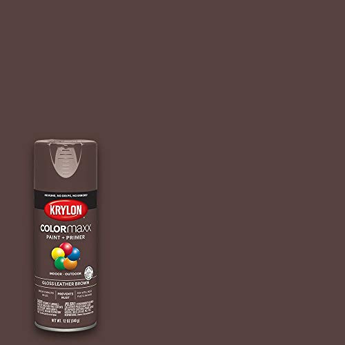 Krylon K05527007 COLORmaxx Spray Paint, Aerosol, Leather Brown