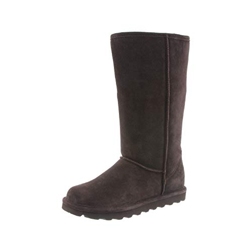 Bearpaw Women's Elle Tall Winter Boot, Chocolate II, 9 M US