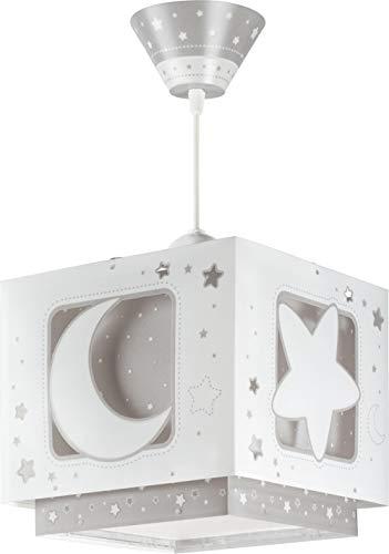 Dalber Lampe de Plafond - Suspension Carrée - Lune - Gris