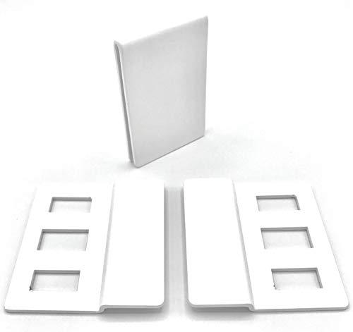 ERABOS® Fenstergriffsicherung FZ300 | PATENTIERTE Fenstersicherung OHNE bohren | 2mm Stahl | weiß | Profi-Einbruchschutz