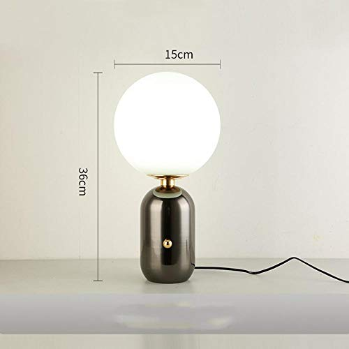 Nordische Postmoderne, minimalistisches Glas, kreative Romantik, Nachttischlampe im Kinderzimmer, Verdunkelung im Wohnzimmer-Schwarz extra klein_Schalter ziehen