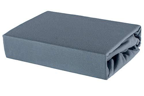 Soft Dream Bettlaken Spannbettlaken - 28 Farben - 100% Baumwolle Jerse (80 x 160 cm, Anthrazit)