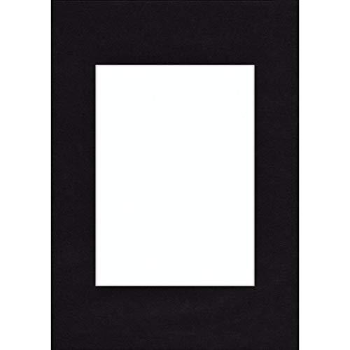 Hama Passe-partout (premium, dimensions : Extérieur : 20 cm x 30 cm / Intérieur : 13 cm x 18 cm) Noir Profond