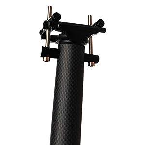 NSGJUYT Tija de sillín de Carbono 27.2/30.8/31.6 MTB Tija de Bicicletas Tubo Lleno de Fibra de Carbono Tija de sillín de Carbono MTB Brillante/Mate (Color : 27.2x400mm Glossy)