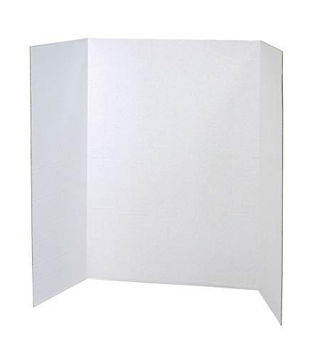 Pacon Presentation Board, White, Single Wall, 48' x 36', 4 Boards
