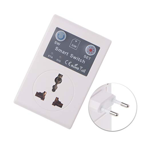 ZChun EU - Mando a distancia inalámbrico para teléfono (220 V, enchufe GSM)