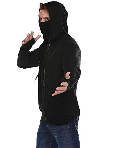 Coshow Herren Kapuzenpullover Sweatshirt Hoodie Sweatjacke Kapuzenjacke