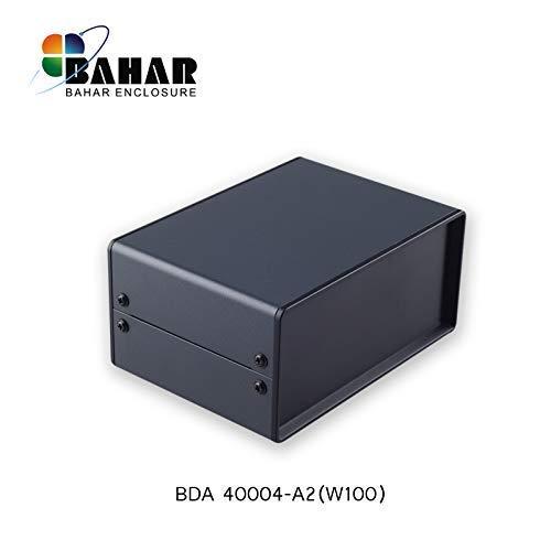 Bahar Enclosure 150*70*100 mm Metallgehäuse Eisengehäuse Iron Enclosure Eisen Box Instrument Gehäuse Industriegehäuse Schwarz BDA 40004-A2 (W100)