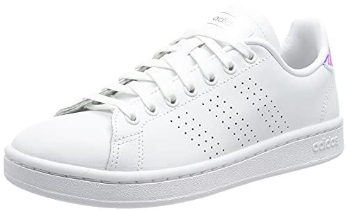 adidas Advantage, Scarpe da Tennis Donna, Ftwbla/Plamet/Ftwbla, 37 1/3 EU
