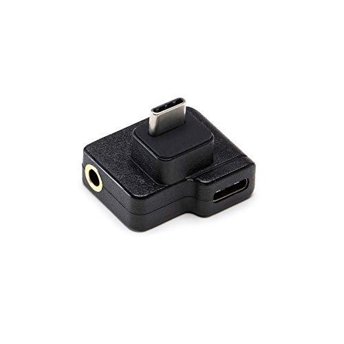 Hensych für DJI Osmo Action Mikrofon 3,5 mm/USB-C-Adapter,Laden des Audio-Adapters Audio Externe 3,5 mm Mikrofonhalterung für Klinkenstecker