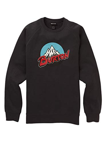 Burton Herren Retro Mountain Sweatshirt, Phantom, M