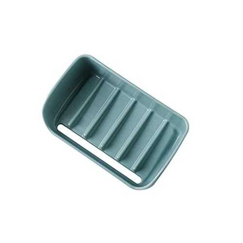 ZAIZAI Caja de jabón de Pared Colgando Antideslizante Sin Clavo Easy Clean Fast Drenaje rápido Jabón de jabón de jabón de jabón Resistente para el baño (Color : B)