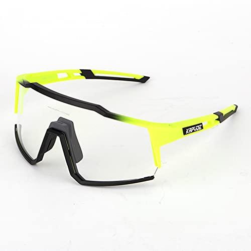 RUBAPOSM Gafas de Sol Deportivas Fotocromáticas Polarizadas para Hombres y Mujeres Gafas de Ciclismo MTB TR90 Protección UV400 Gafas de Transición de Seguridad para Bicicleta de Montaña,07