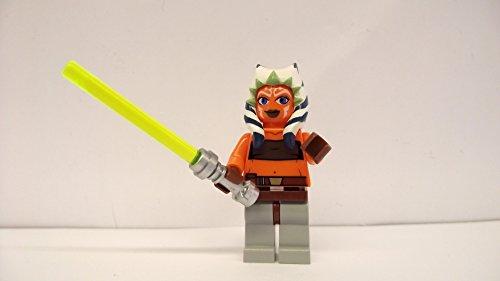 LEGO Star Wars–Figur Ahsoka mit Laserschwert-Griff Silber
