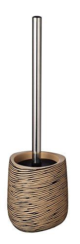 RIDDER 21014000 Brosse à WC Wood, Synthétique, Brun/Beige, 11,1 x 11,2 x 38 cm