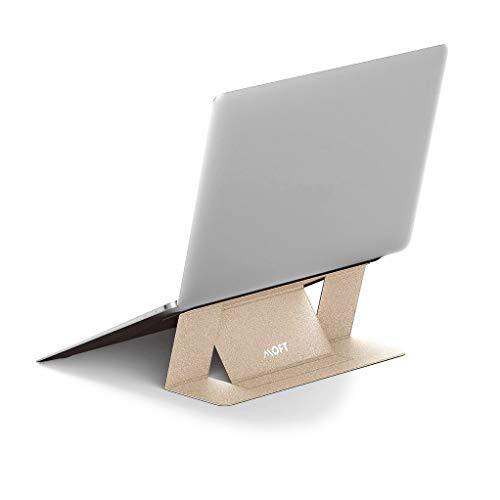 国内正規代理店 MOFT 超軽量 ノートスタンド Adhesive Foldable Laptop Stand (ゴールド)